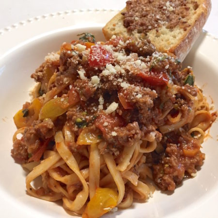 Late Summer Beef Bolognese - Blue Apron